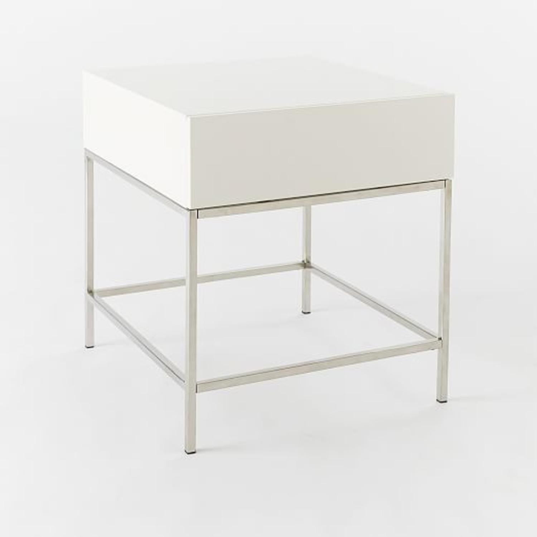 West Elm Storage Side Table - image-1