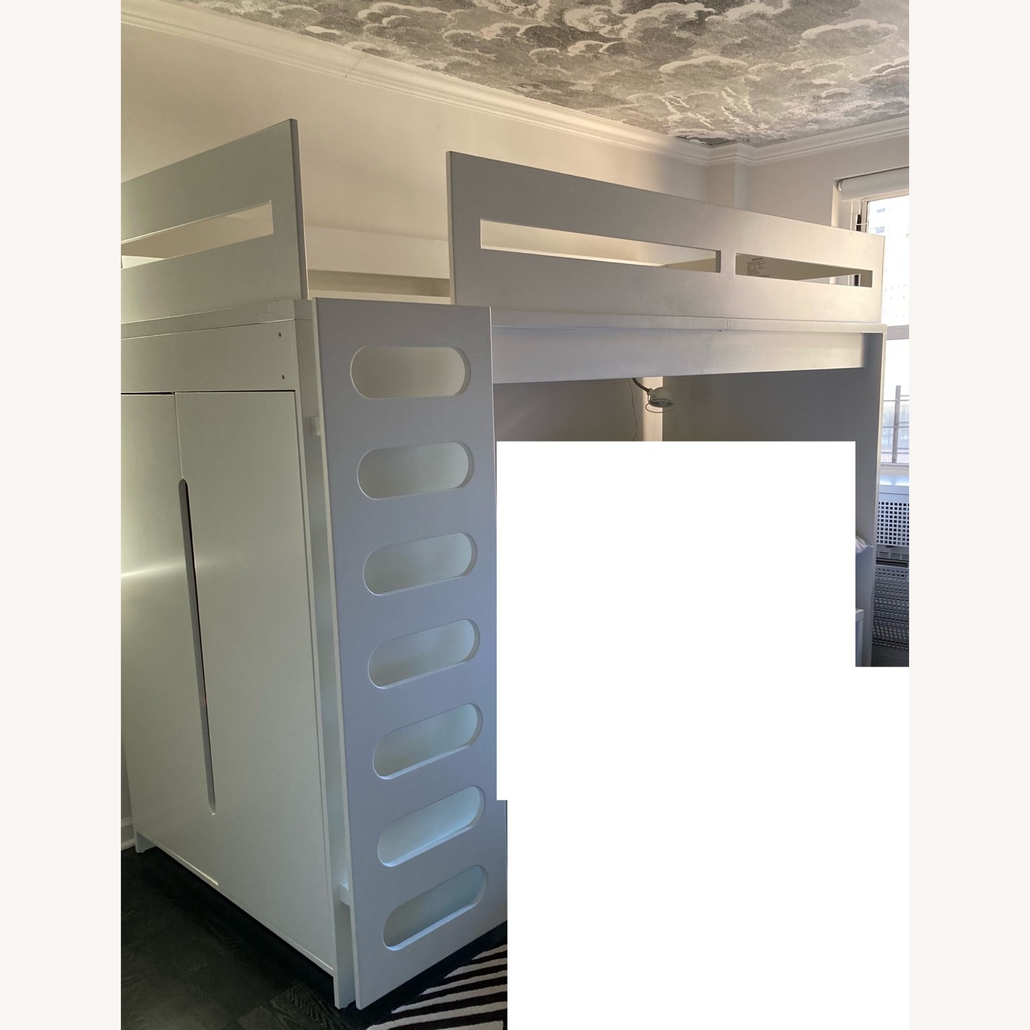 DucDuc Alex Loft Bed with Armoire (Twin) Custom Painted - image-1