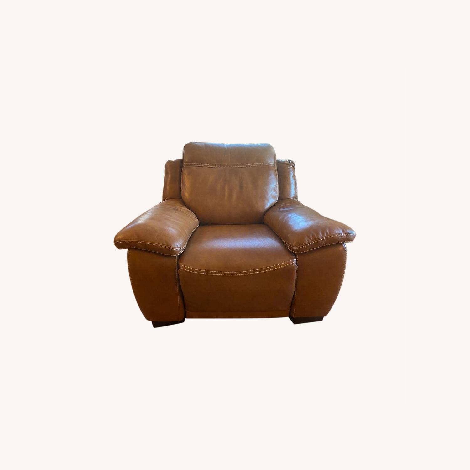 Raymour & Flanigan Leather Power Recliner - image-0