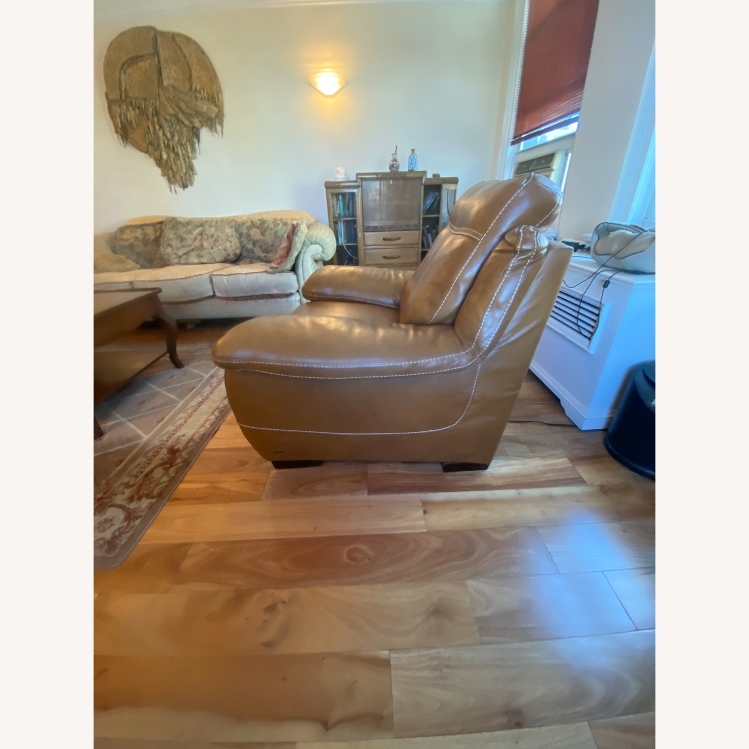 Raymour & Flanigan Leather Power Recliner - image-3