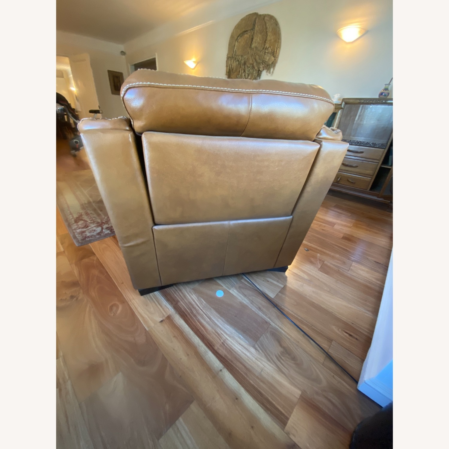Raymour & Flanigan Leather Power Recliner - image-2