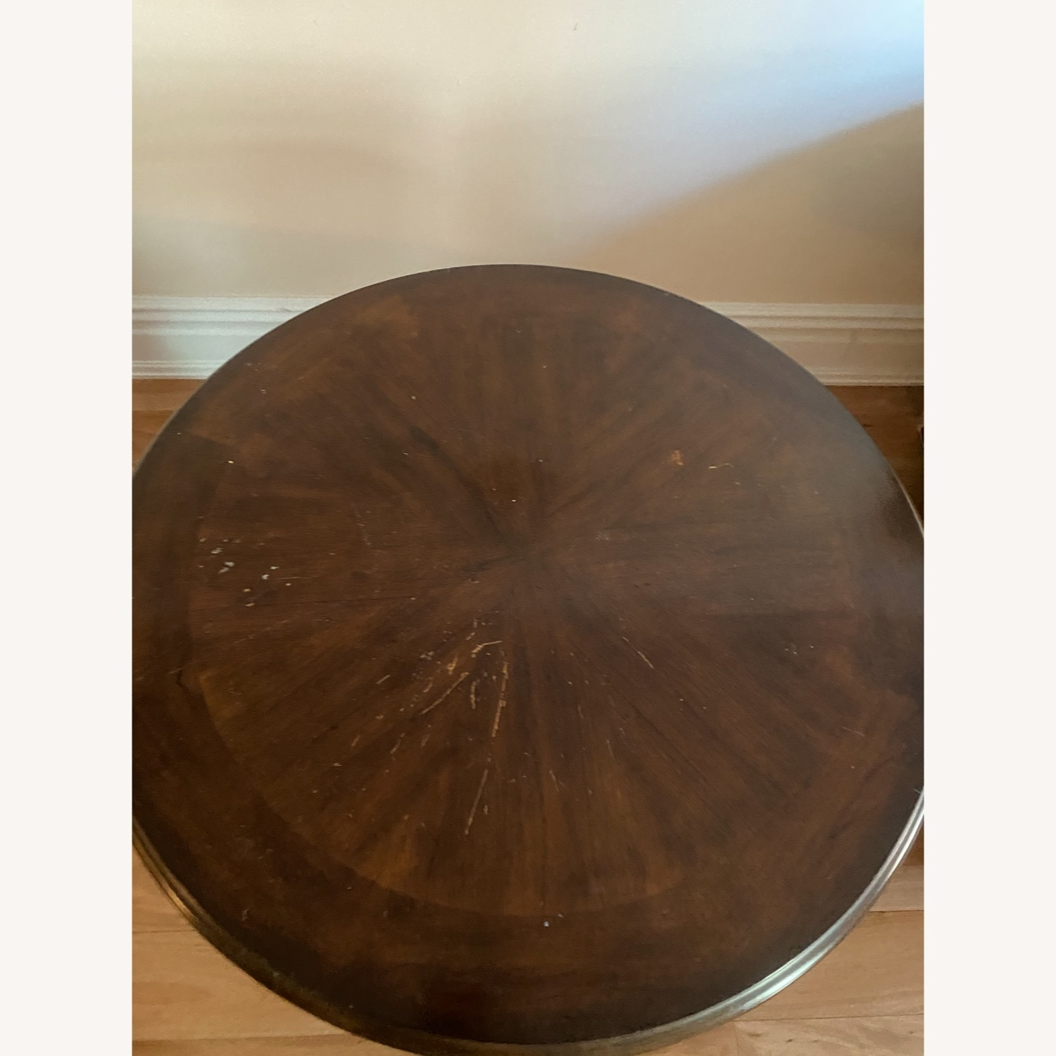 Domain Furniture Round Ornate Solid Wood Side Table - image-2