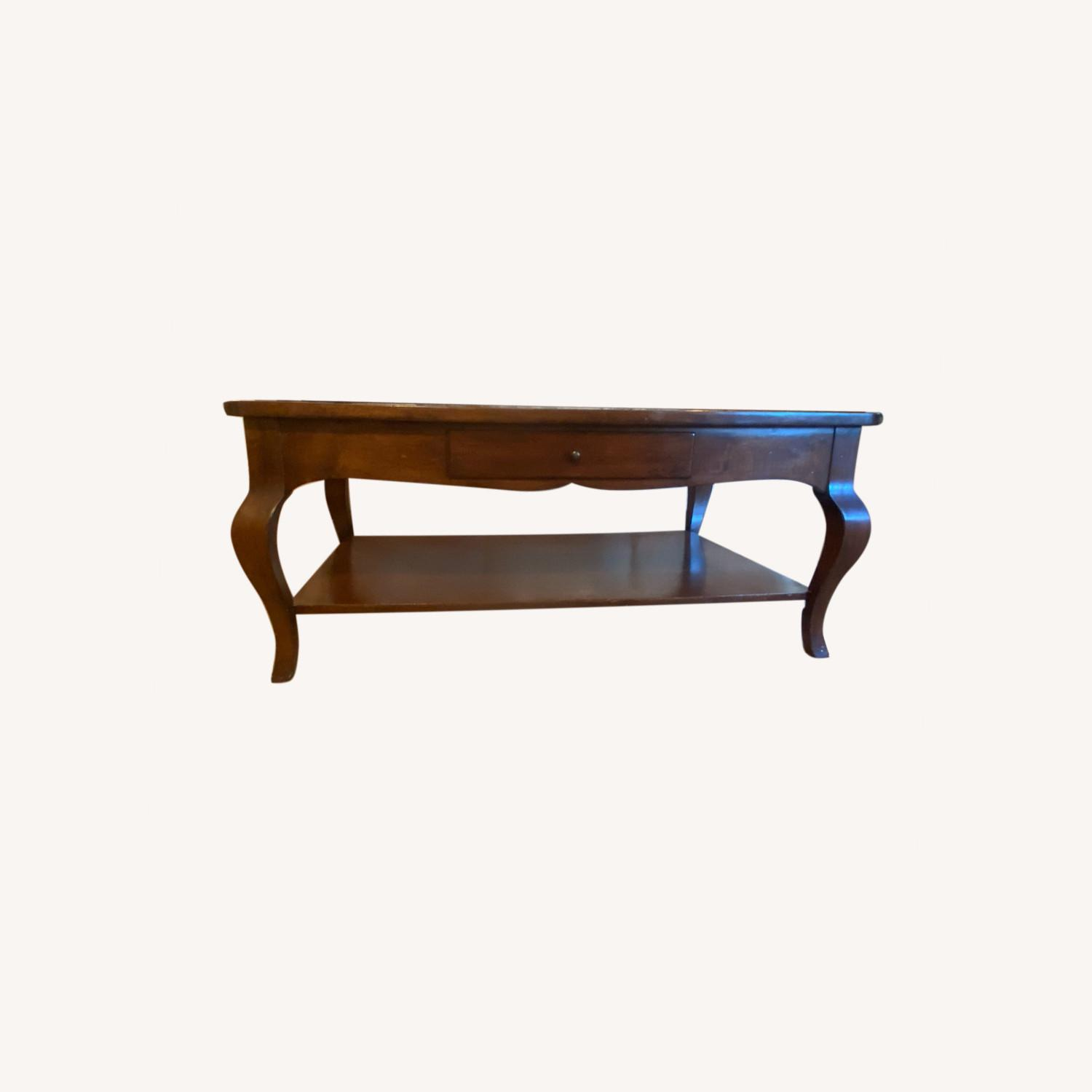 Domain Furniture Solid Wood Double Drawer Coffee Table - image-0