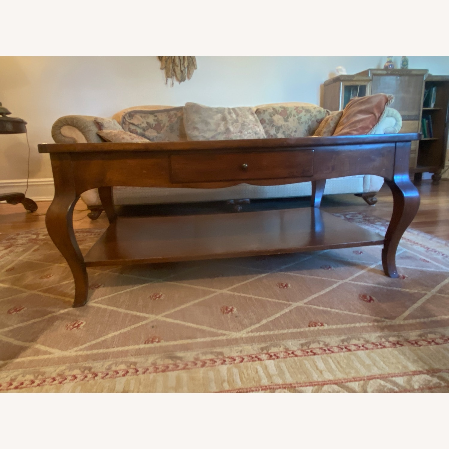 Domain Furniture Solid Wood Double Drawer Coffee Table - image-1