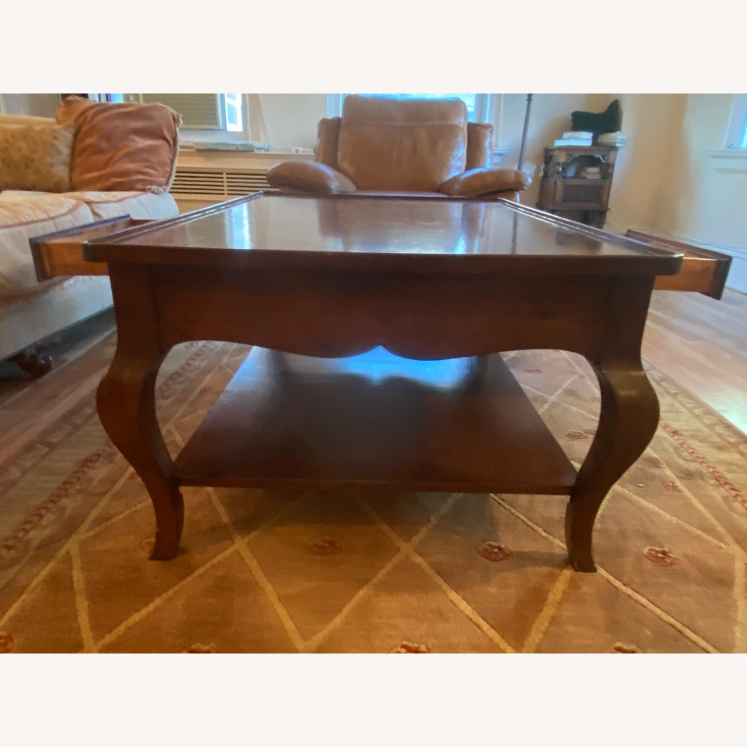 Domain Furniture Solid Wood Double Drawer Coffee Table - image-2