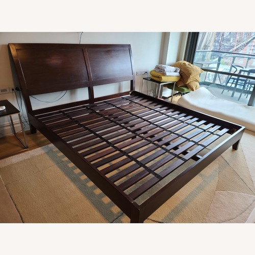 Used Crate & Barrel Dawson Clove King Sleigh Bed for sale on AptDeco