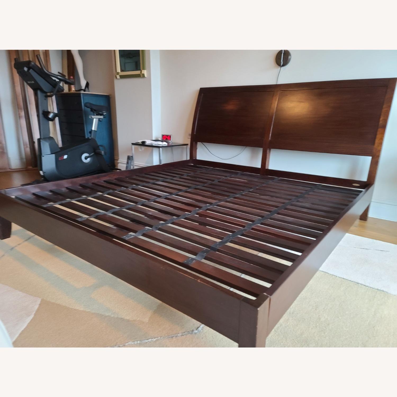 Crate & Barrel Dawson Clove King Sleigh Bed - image-5