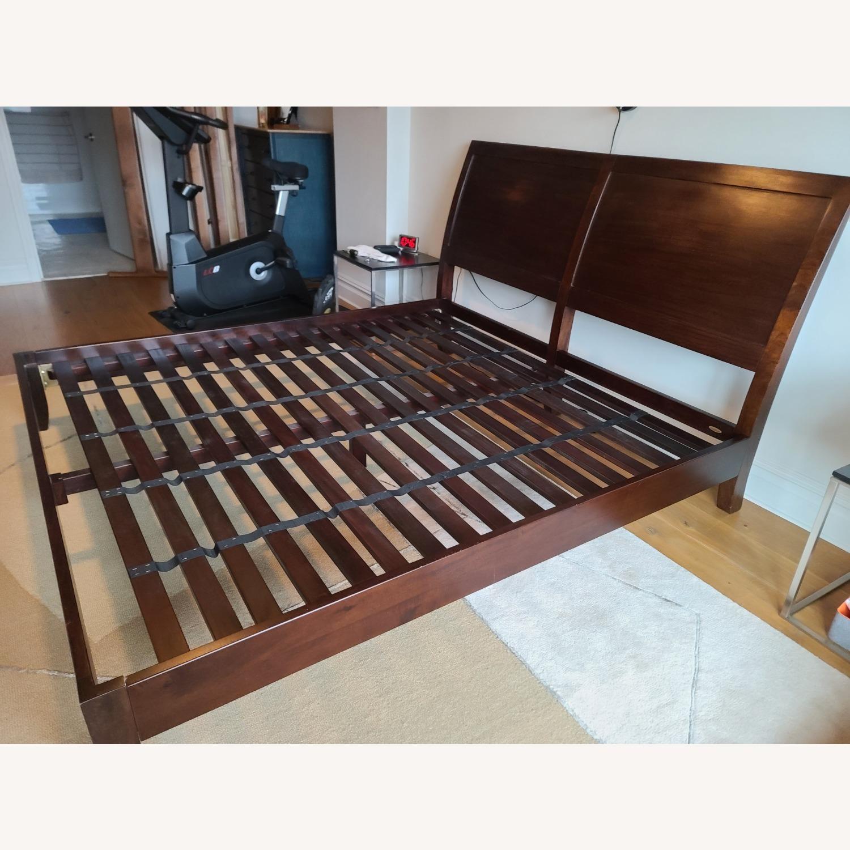 Crate & Barrel Dawson Clove King Sleigh Bed - image-4