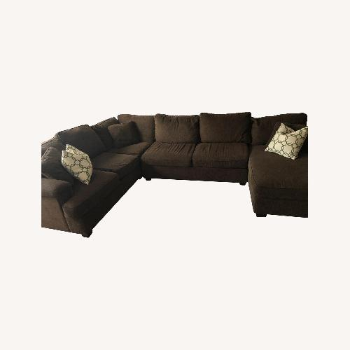 Used Bloomingdale's Brown 3 Piece Sectional Sofa for sale on AptDeco