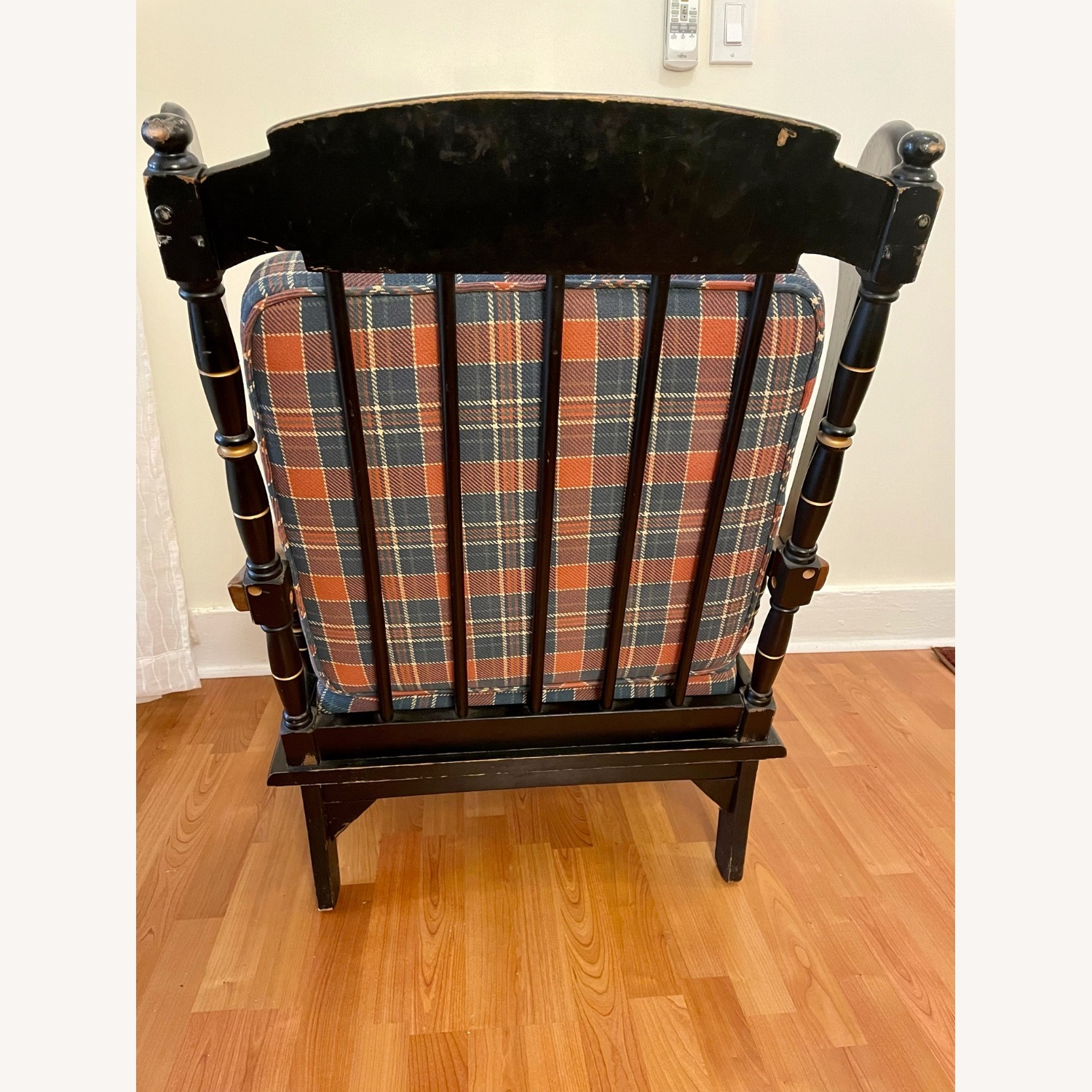Vintage Wooden Wingback Chair - image-8