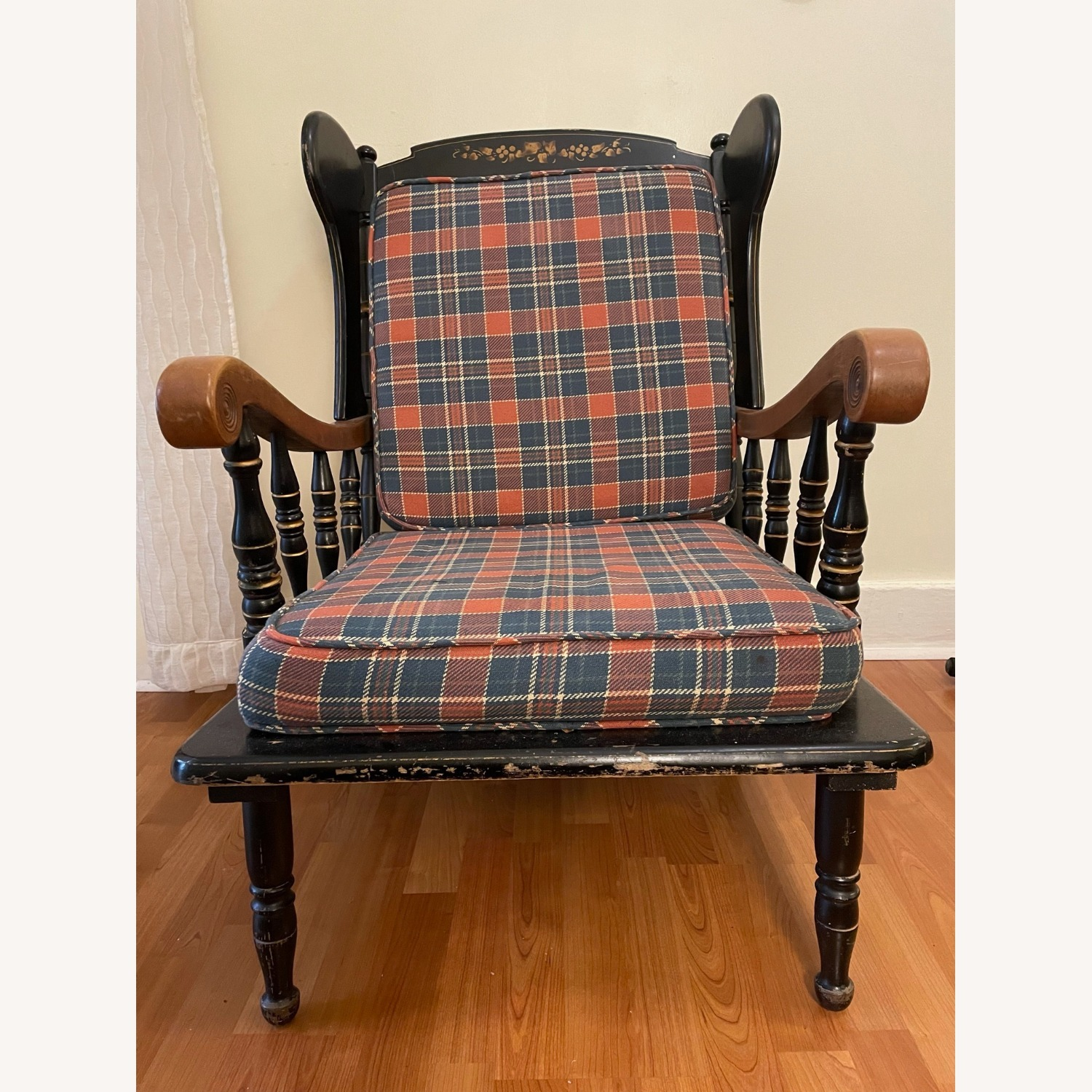 Vintage Wooden Wingback Chair - image-3