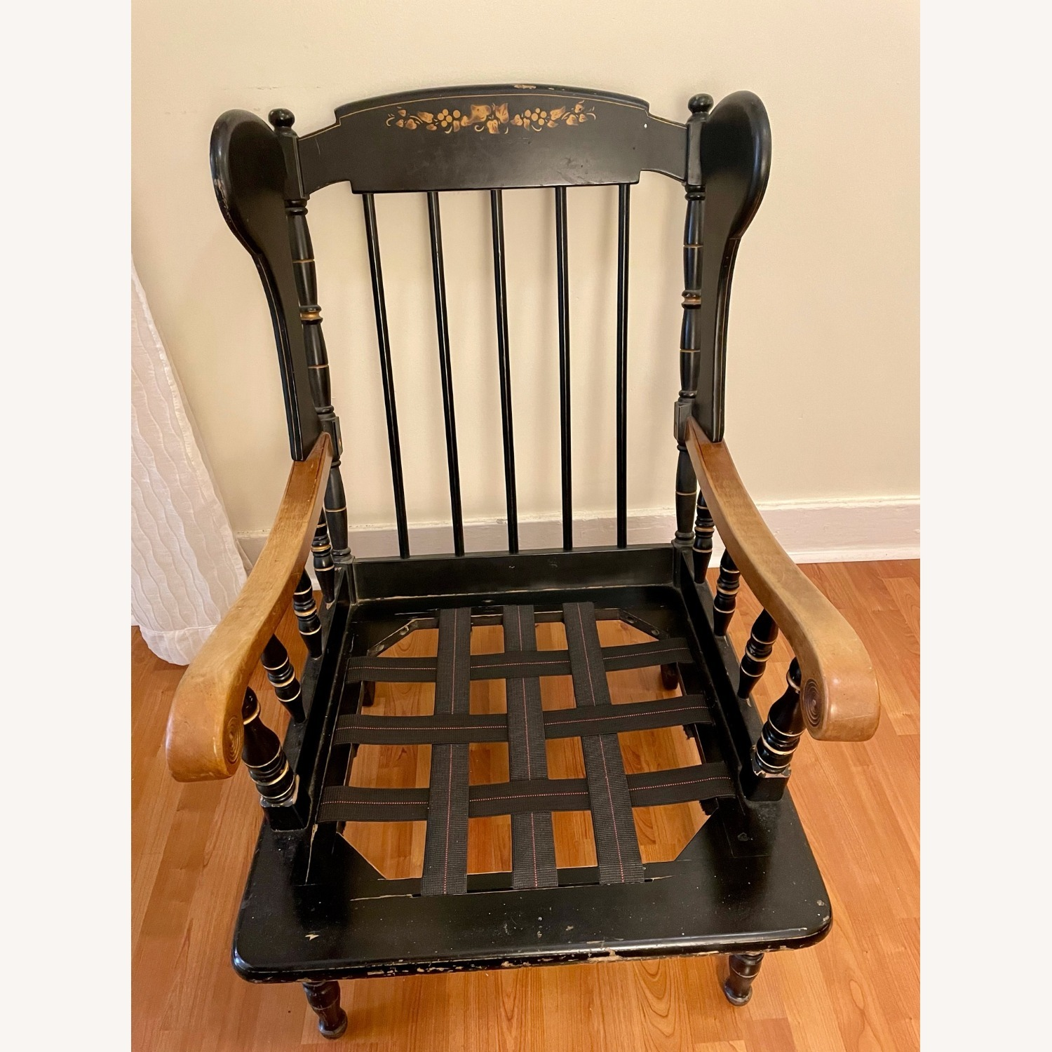 Vintage Wooden Wingback Chair - image-4