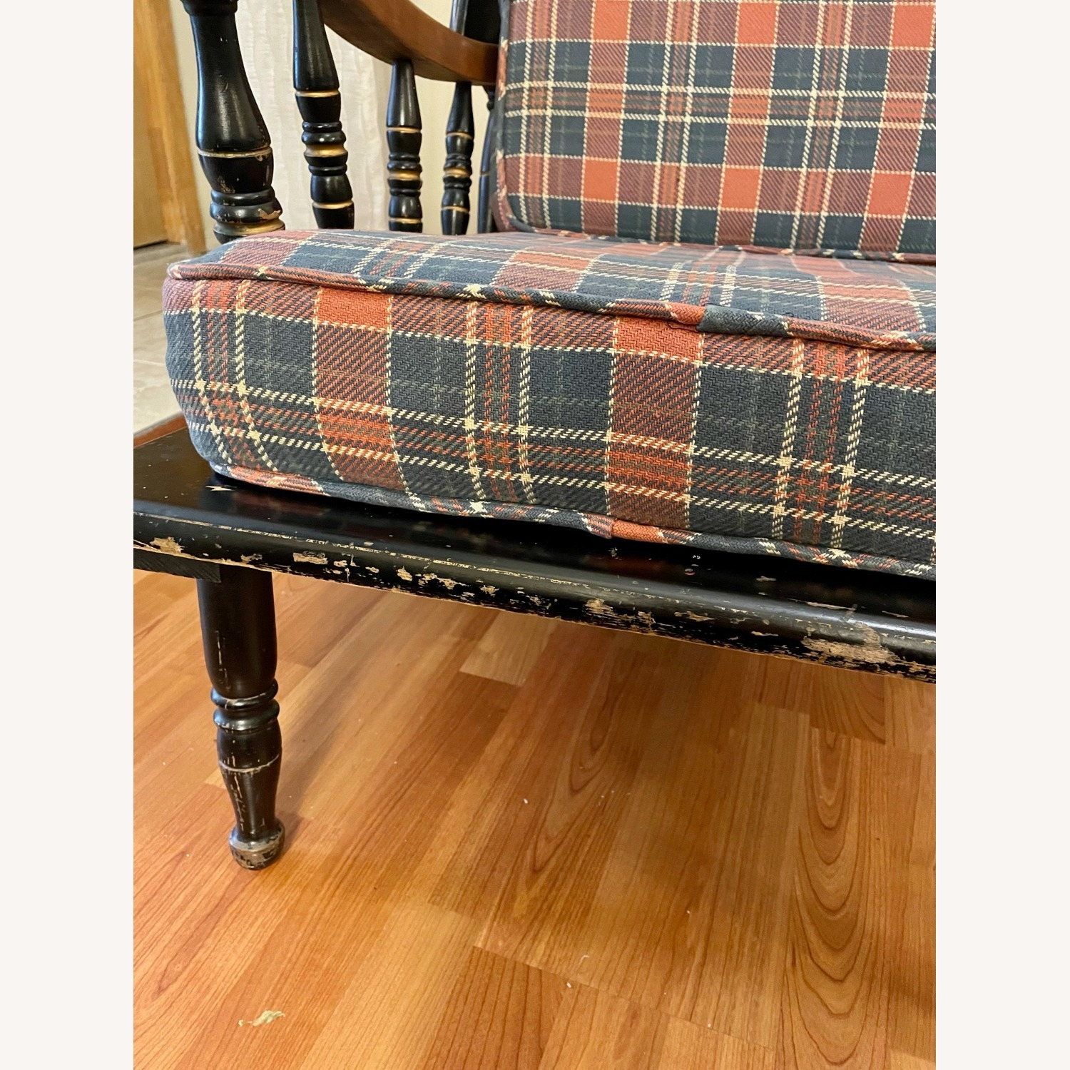Vintage Wooden Wingback Chair - image-7