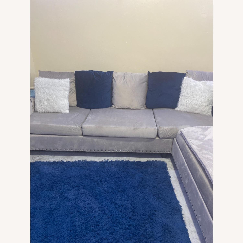 Wayfair Grey c Sectional Sofa Couch - image-1