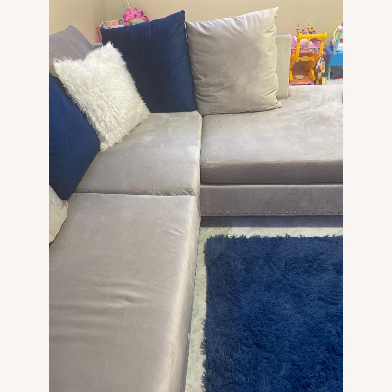 Wayfair Grey c Sectional Sofa Couch - image-2