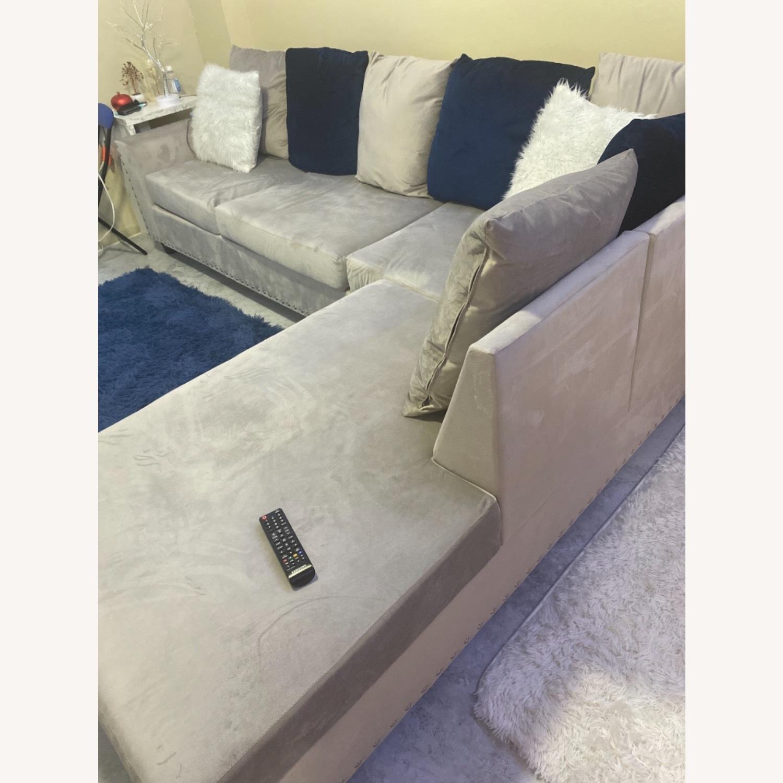 Wayfair Grey c Sectional Sofa Couch - image-3