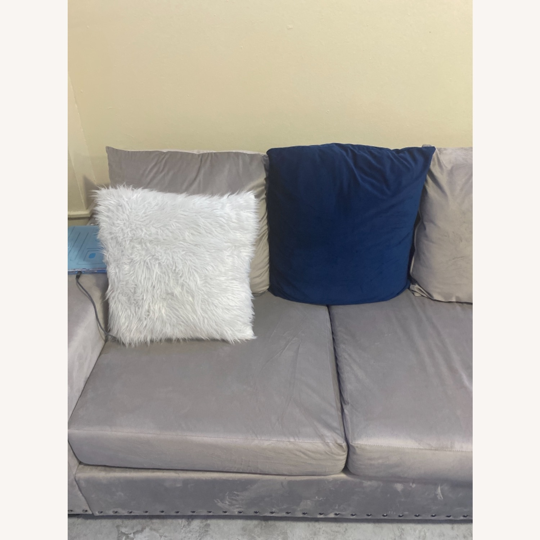 Wayfair Grey c Sectional Sofa Couch - image-5