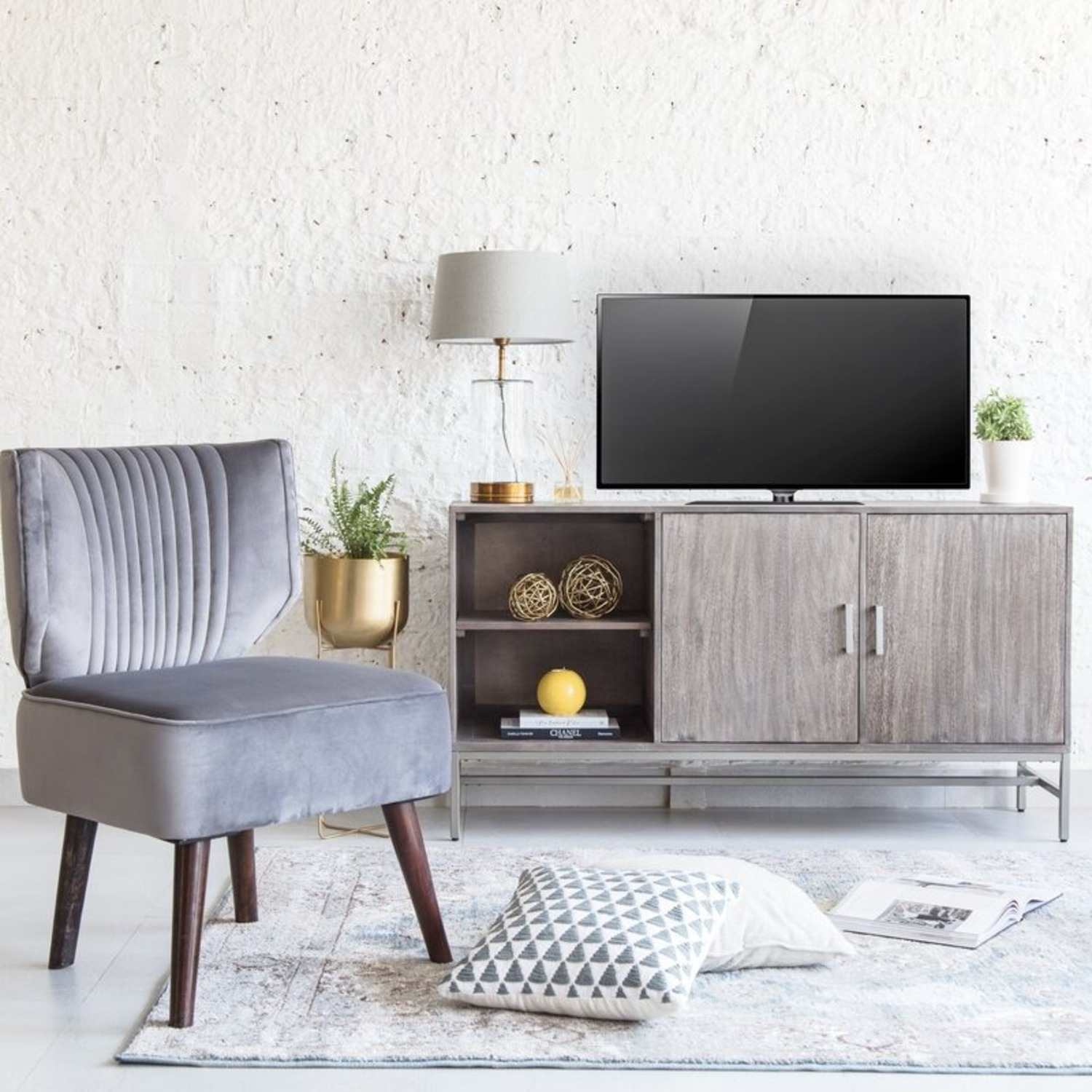 """Wayfair Kathleen TV Stand for TV's up to 65"""" - image-1"""
