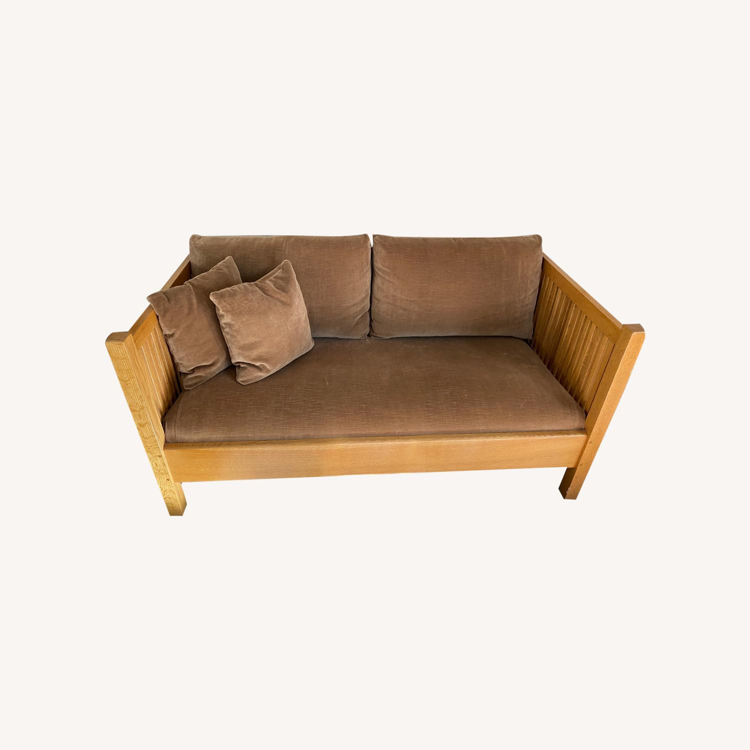 Stickley Sofa-Mission Style Oak Spindle Collection - image-0