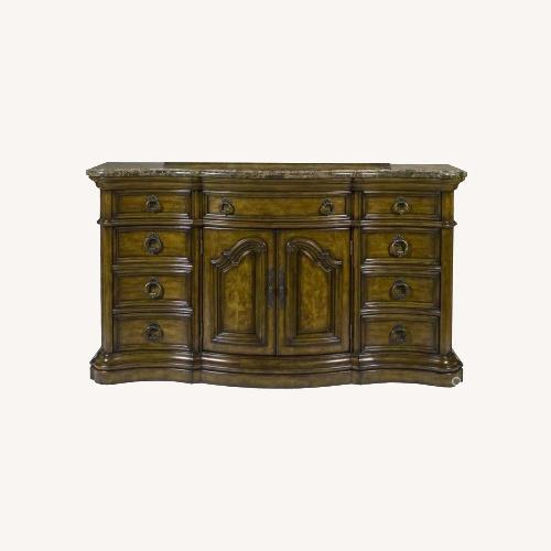 Used Pulaski Furniture San Mateo Marble Top Dresser for sale on AptDeco