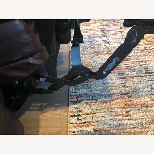Used Bassett Power Leather Sofa for sale on AptDeco