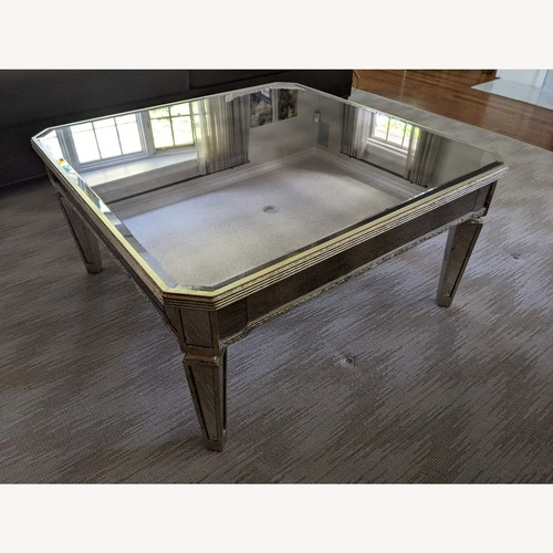 Used Horchow Amelie Mirrored Coffee Table for sale on AptDeco