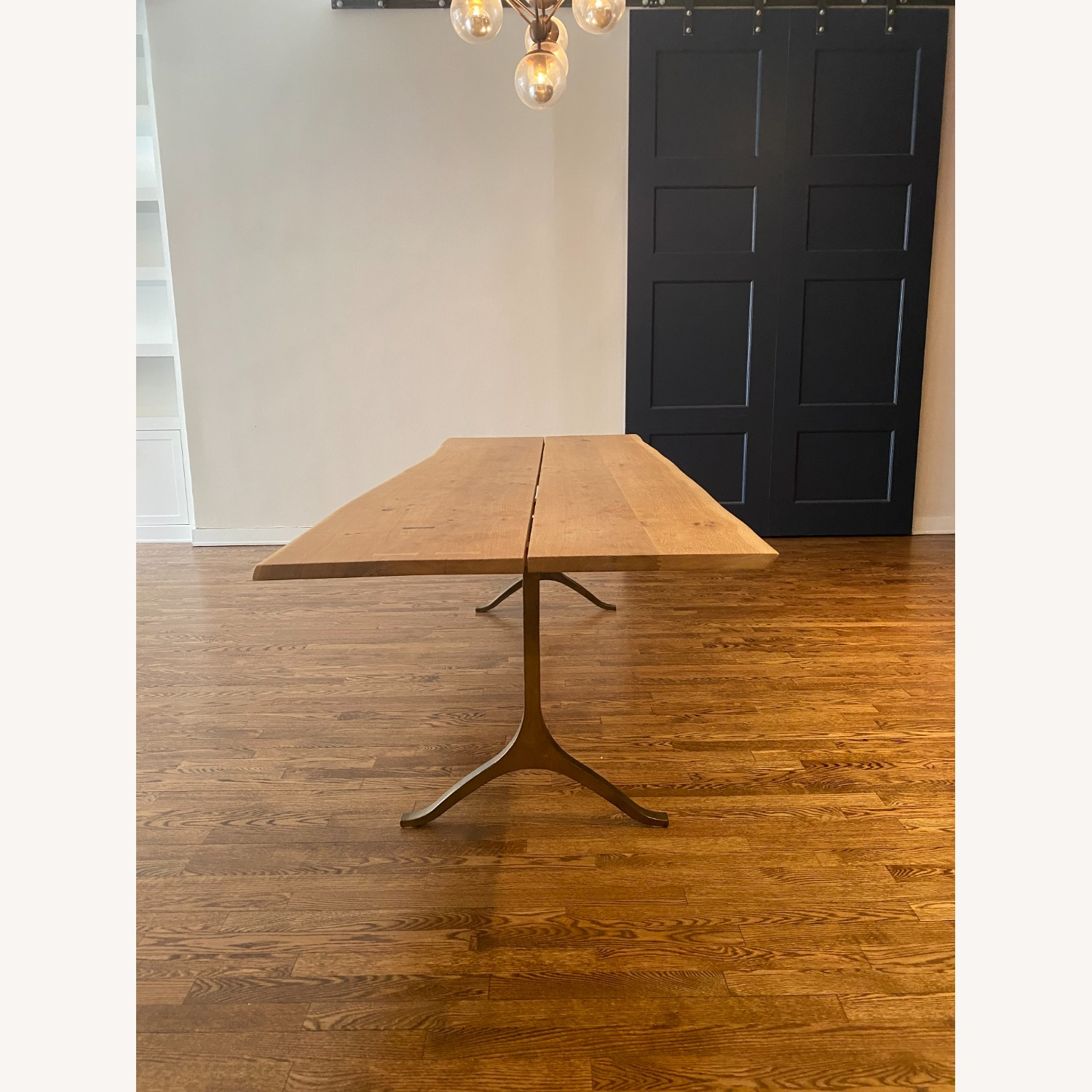 Anthropologie Oak and Brass Live Edge Dining Table - image-3