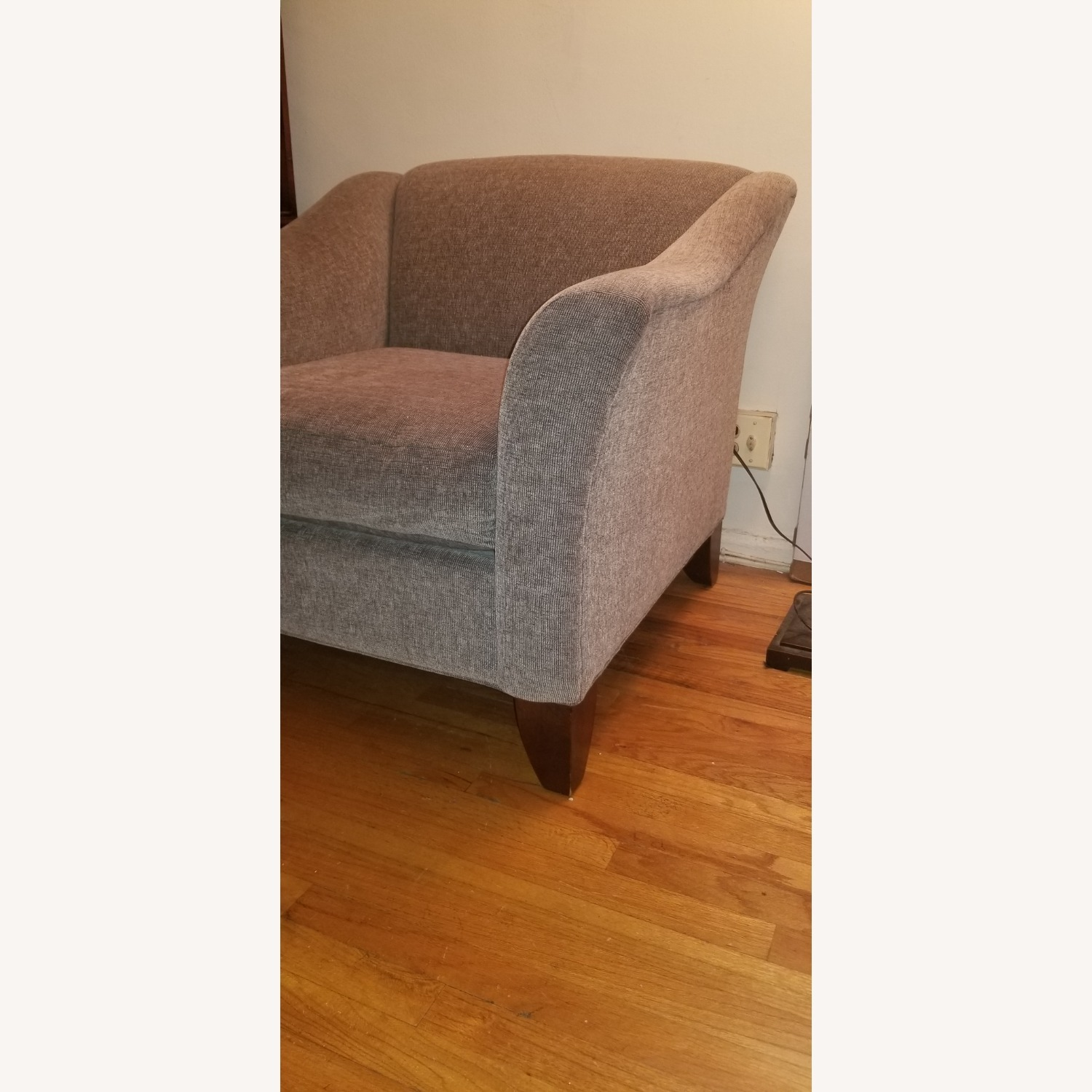 Raymour and Flanigan Green Armchair - image-2