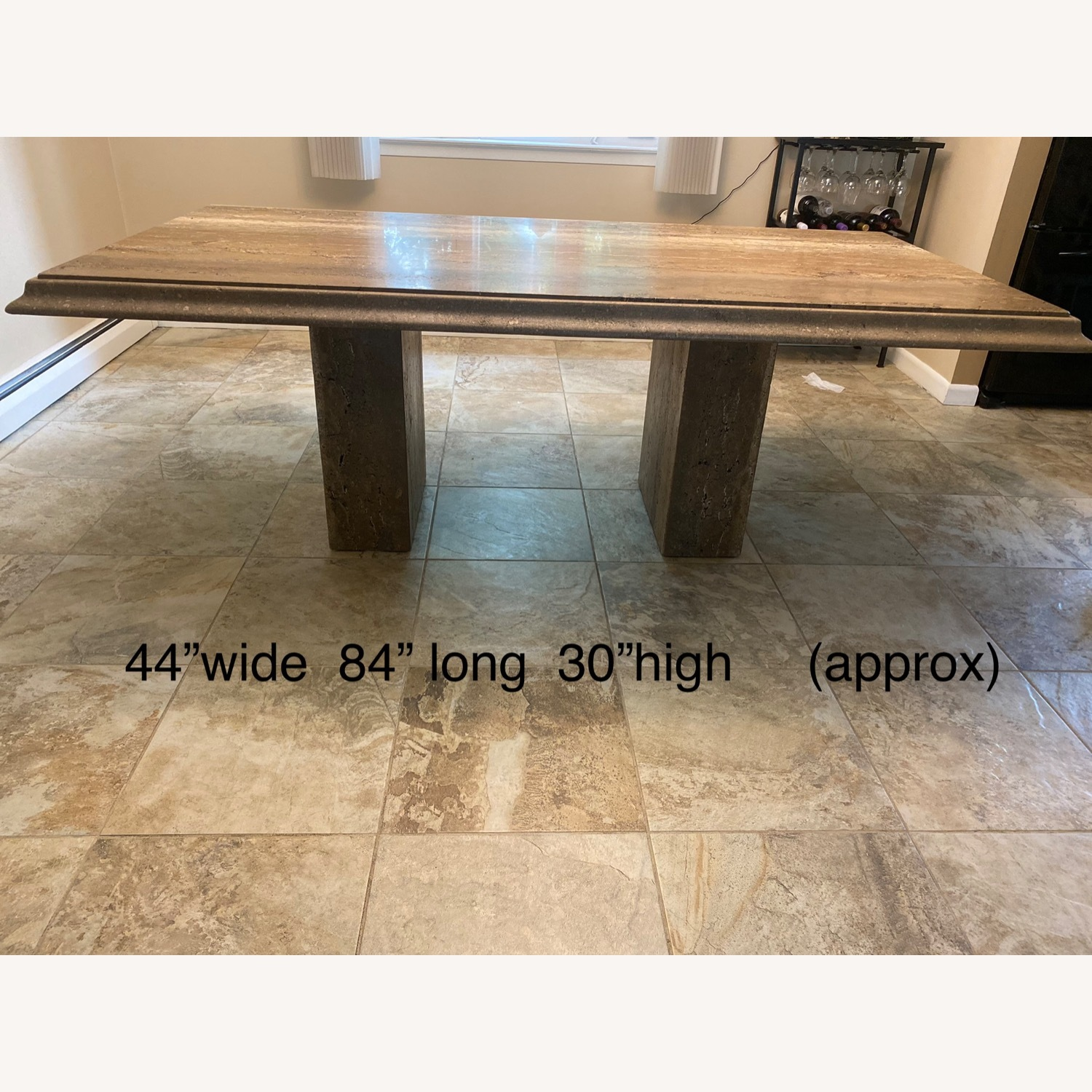 Natural Stone Dining Table - image-5