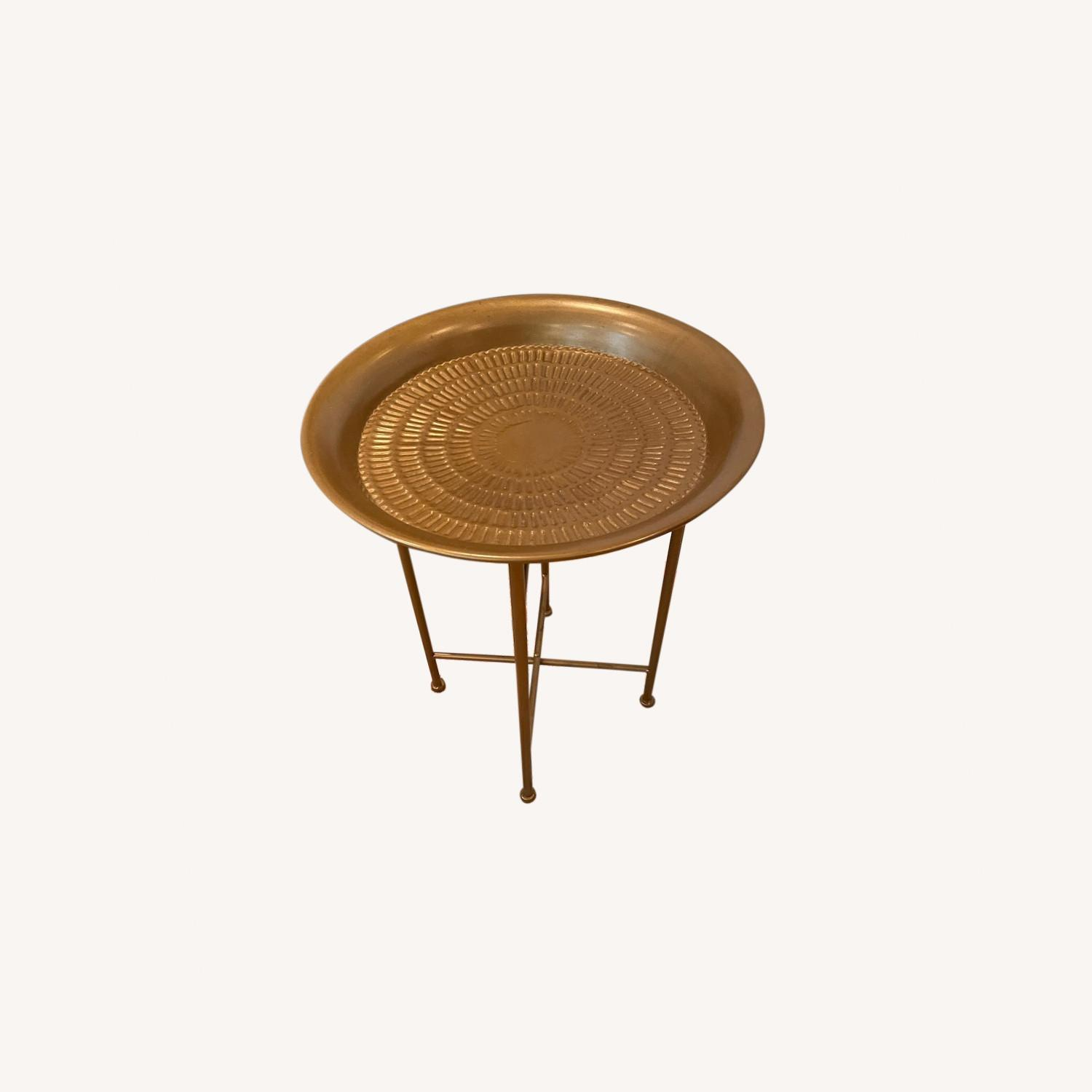 Gold Side Table - image-0