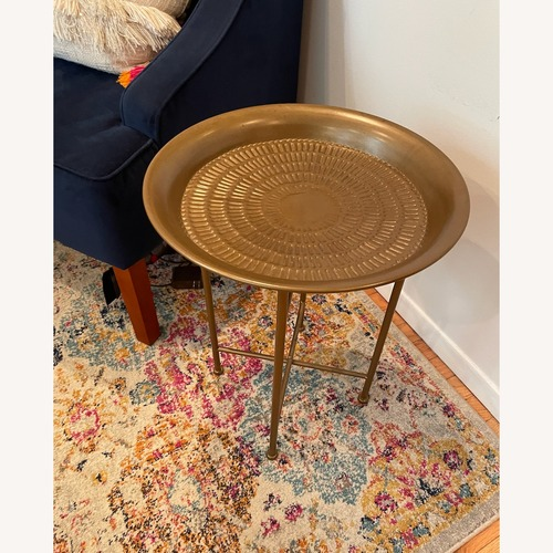 Used Gold Side Table for sale on AptDeco