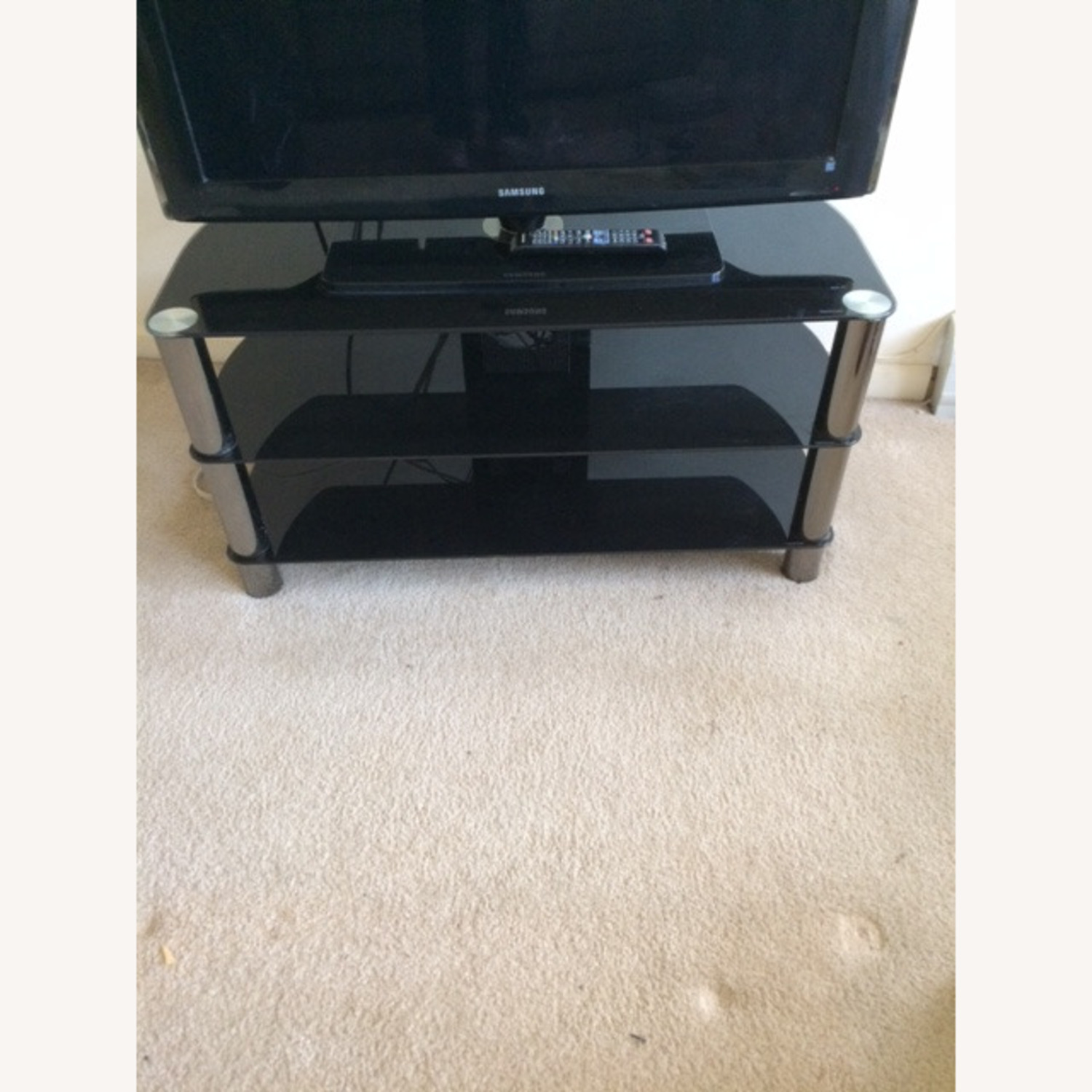 TV Stand with Three Shelves - image-1