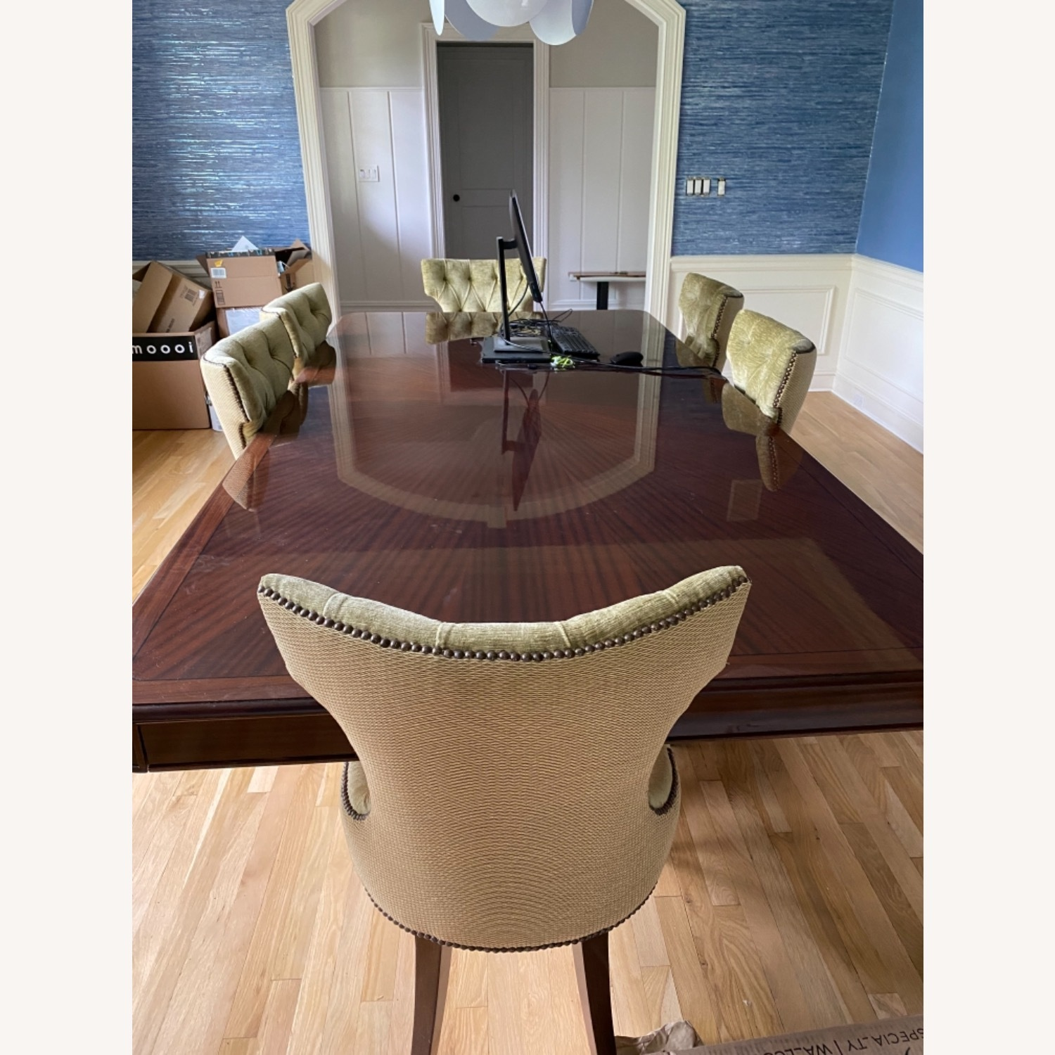 Custom Dining Table w/8 Chairs - image-1