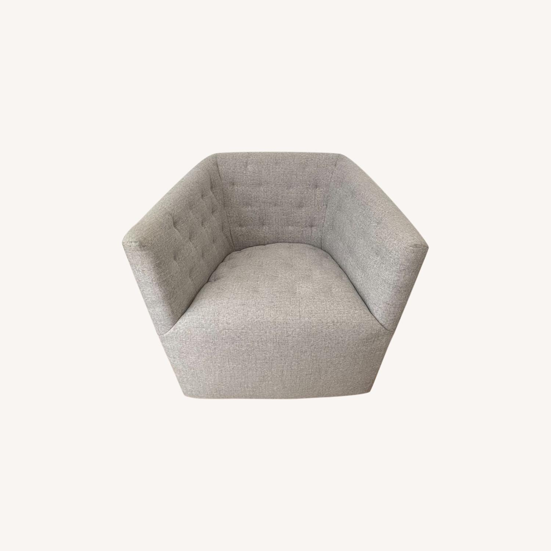 Fabric Swivel Armchair - image-0