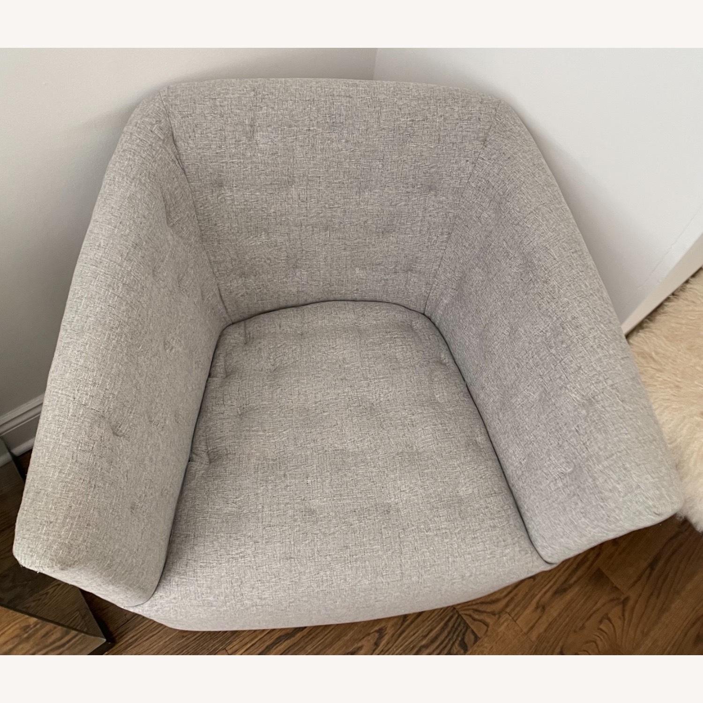 Fabric Swivel Armchair - image-3