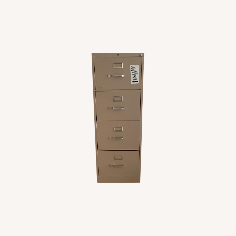 Hon Furniture 4-Drawer 52 Metal File Cabinet - image-0