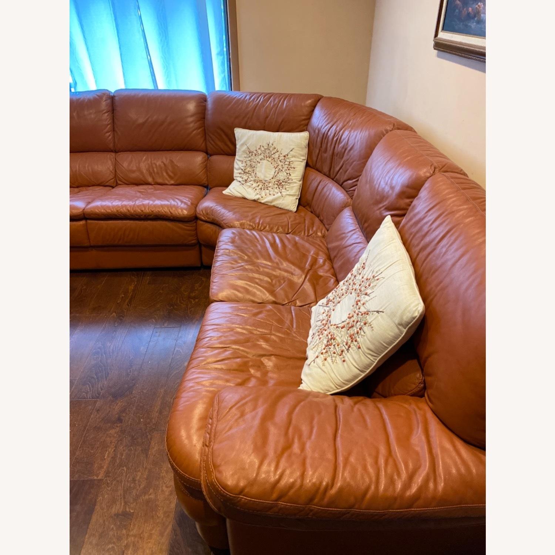 Natuzzi Leather Sectional - image-3