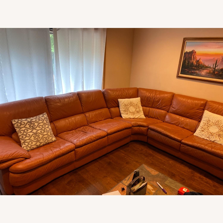 Natuzzi Leather Sectional - image-1
