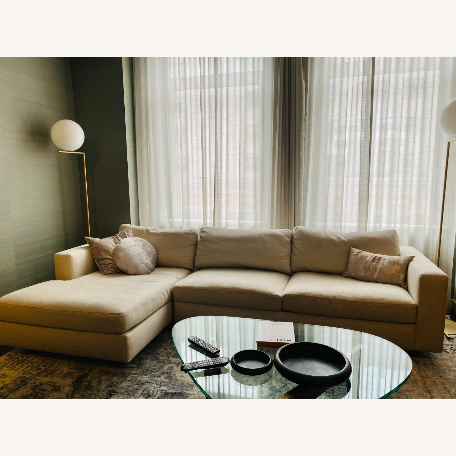 Design Within Reach Sofa w/ Chaise - image-1