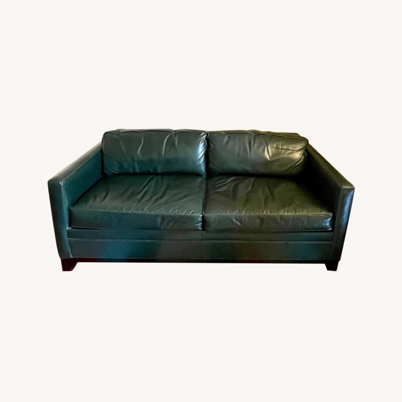 Luxurious Dark Teal Mitchell Gold Sleeper Sofa - image-0
