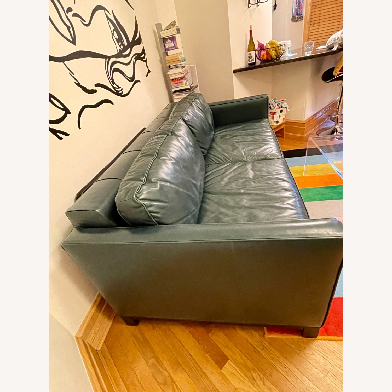 Luxurious Dark Teal Mitchell Gold Sleeper Sofa - image-5