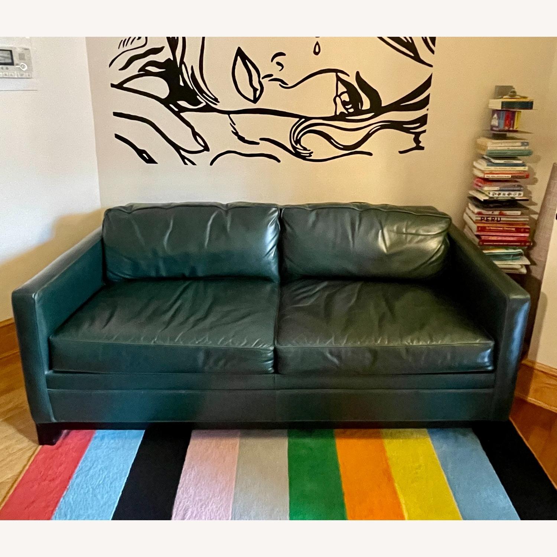 Luxurious Dark Teal Mitchell Gold Sleeper Sofa - image-1