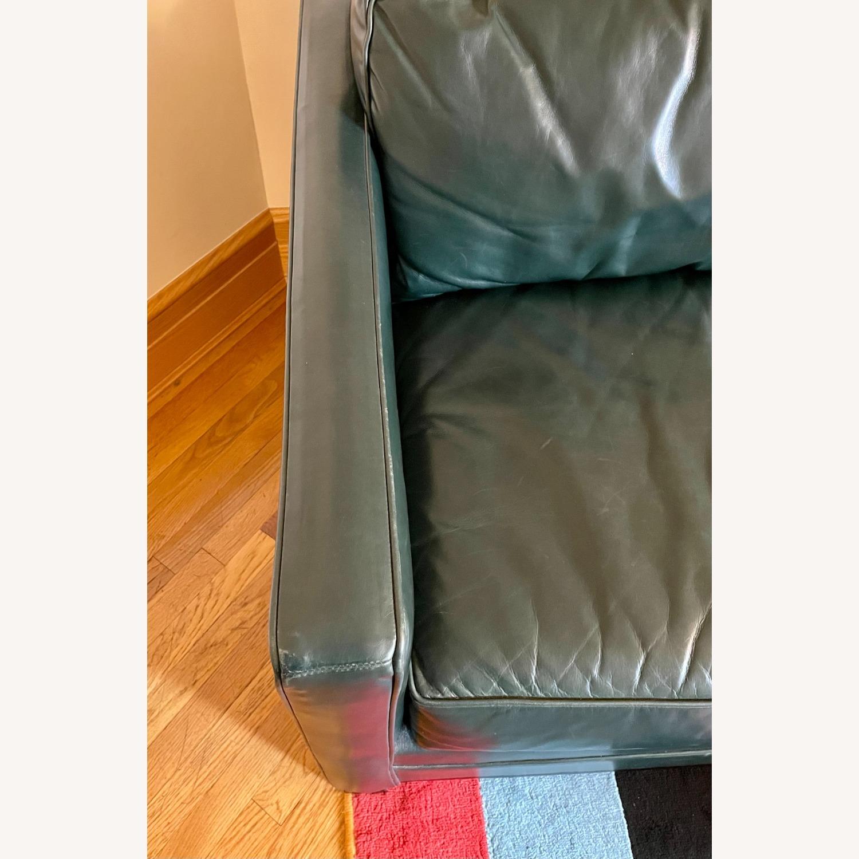 Luxurious Dark Teal Mitchell Gold Sleeper Sofa - image-4