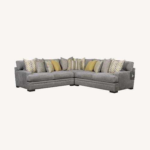Used Rooms To Go Gray 3 Piece Sectional Cindy Crawford Home for sale on AptDeco