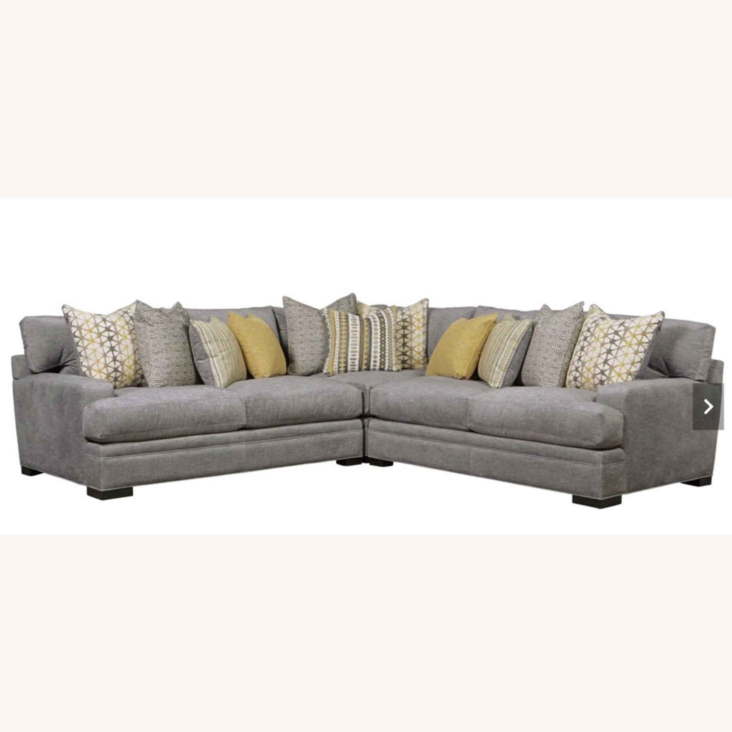 Rooms To Go Gray 3 Piece Sectional Cindy Crawford Home - image-3