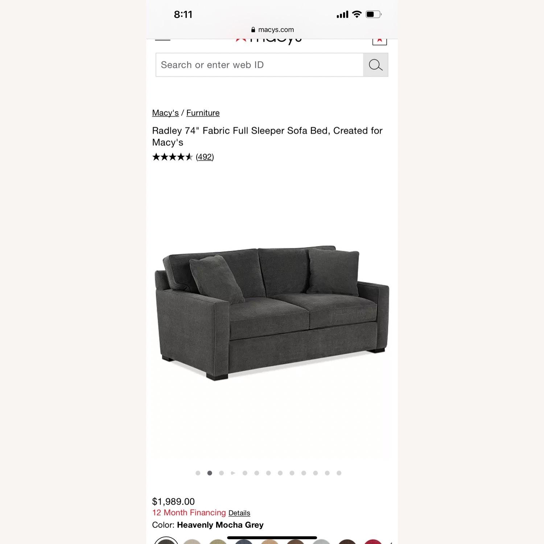 Macy's Full Sleeper Sofa - image-5