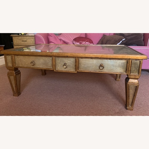 Used Theodore Alexander Antique Gilt Coffee Table for sale on AptDeco