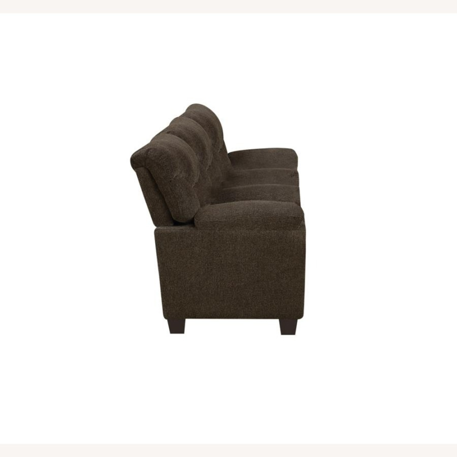 Sofa In Brown Chenille Upholstery Finish - image-2