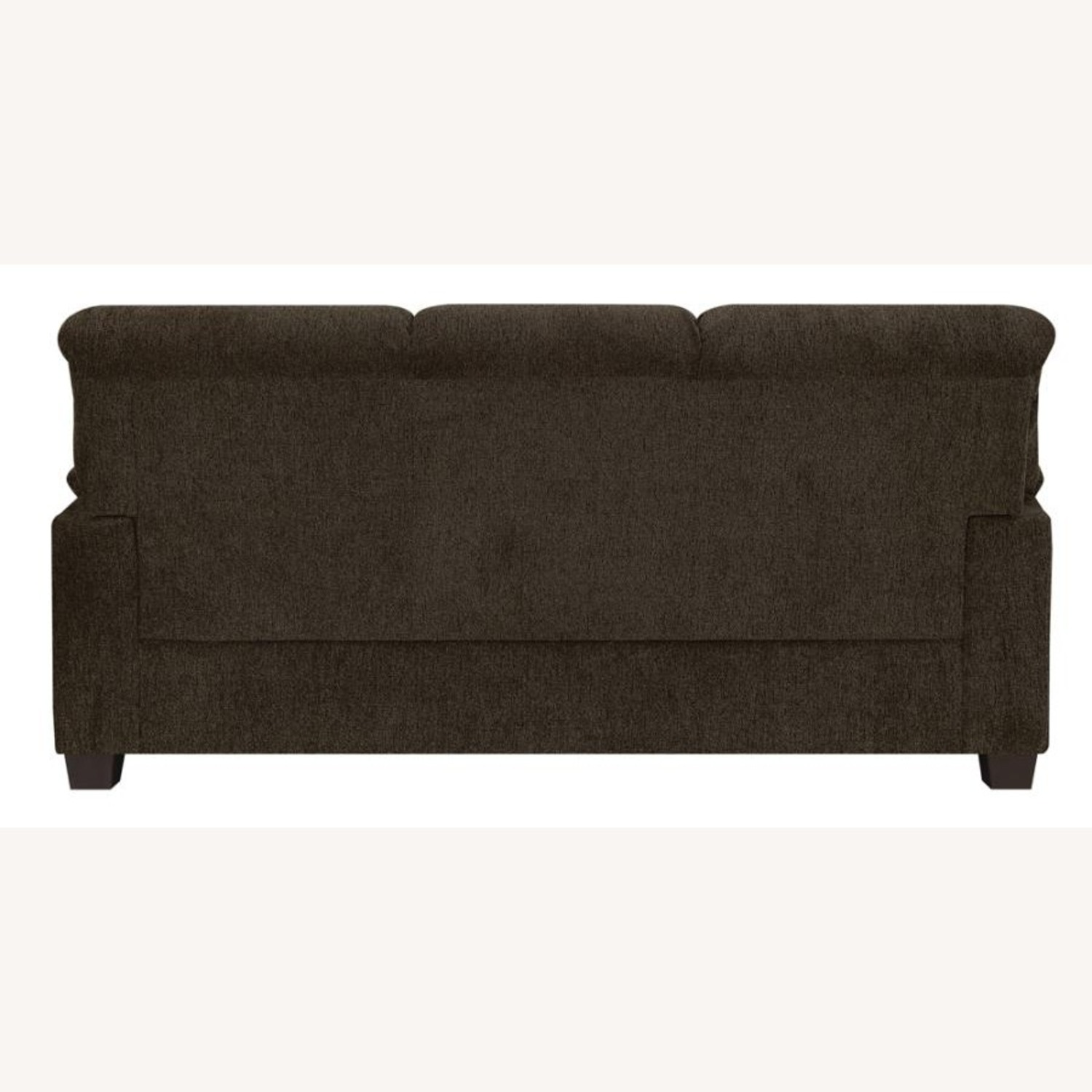 Sofa In Brown Chenille Upholstery Finish - image-3