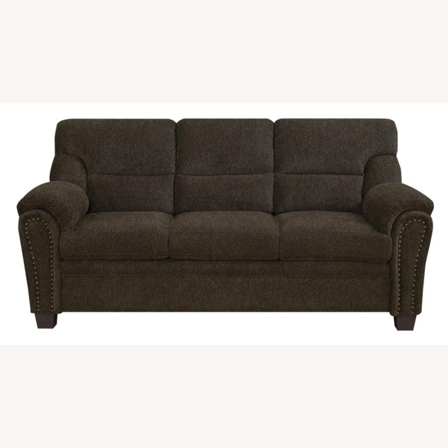 Sofa In Brown Chenille Upholstery Finish - image-0